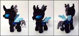 Plushie: Filly Changeling - My Little Pony: FiM by Serenity-Sama