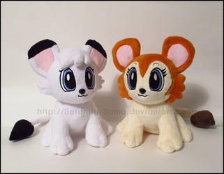 Plushie: Kimba and Kitty by Serenity-Sama