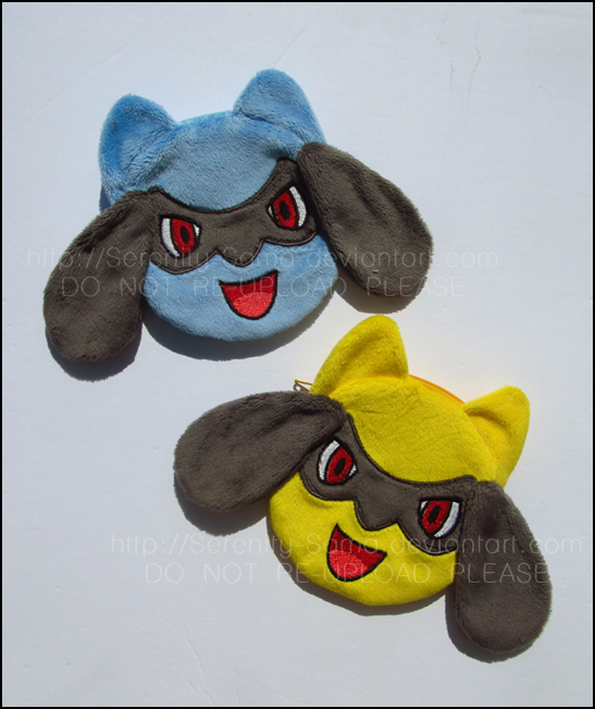 Zipper Pouches: Riolu and Shiny Riolu by Serenity-Sama