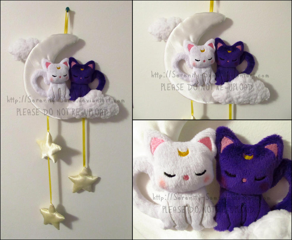 Luna and Artemis Wall Hanging by Serenity-Sama