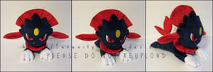 Plushie: Laying Weavile