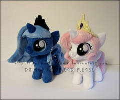 Plushie: Tia and Woona - MLP:FiM by Serenity-Sama