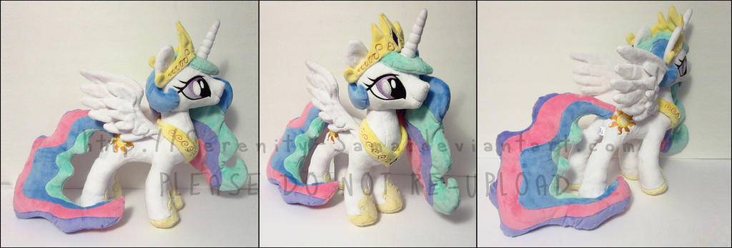 Plushie: Princess Celestia - My Little Pony: FiM by Serenity-Sama