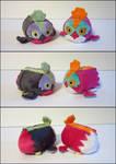 Stacking Plush: Mini Hawlucha and Shiny Hawlucha
