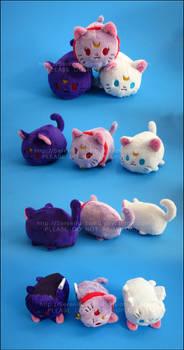Stacking Plush: Mini Luna, Artemis and Diana