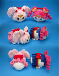 Stacking Plush: Mini S.Chibi Moon + S.Chibi Chibi by Serenity-Sama
