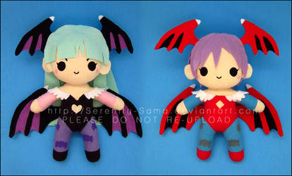 Chibi Morrigan and Lilith - Darkstalkers by Serenity-Sama