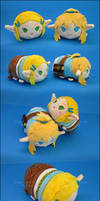 Stacking Plush: Small Link + Zelda - BoTW