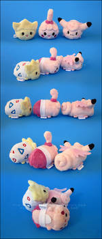 Stacking Plush: Mini Clefable, Togepi and Happiny