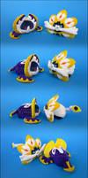 Stacking Plush: Mini Lunala and Solgaleo by Serenity-Sama