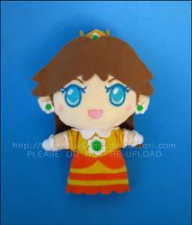 Chibi Keychain: Princess Daisy - Super Mario Land by Serenity-Sama