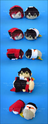 Stacking Plush: Mini Ruby and Oscar