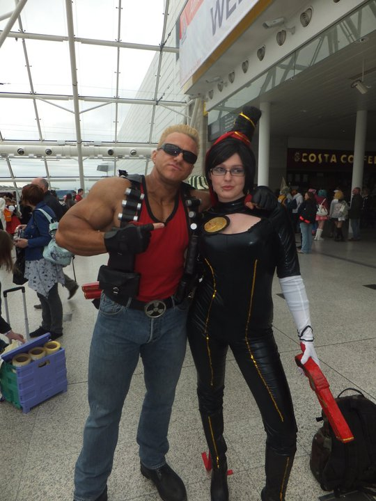 Bayonetta and Duke Nukem by Beckles-101
