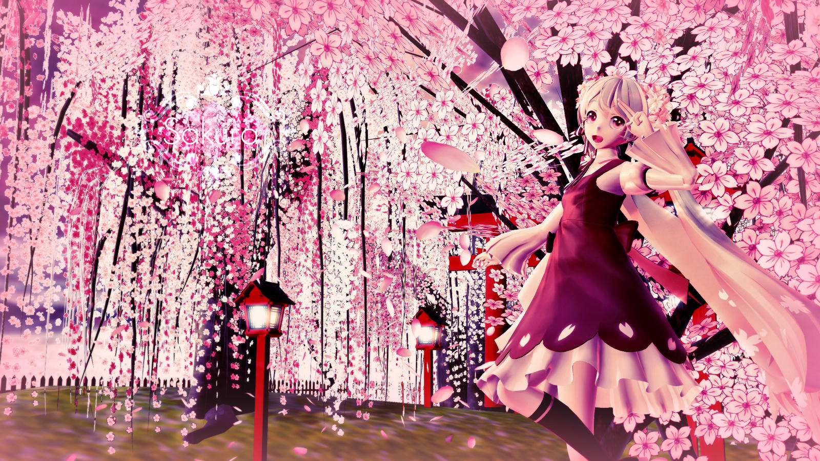 Cherry Blossoms Mmd Sakura Wallpaper Hd By Lenmjpu On Deviantart