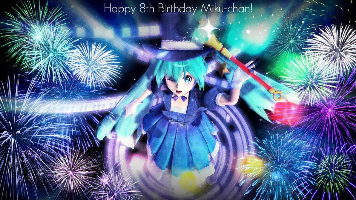 [MMD] Happy 8th Birthday Miku-chan !! by ManjapanUniverse