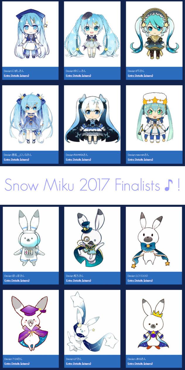 Snow Miku 2017 Design Contest - FINALISTS ! by LenMJPU