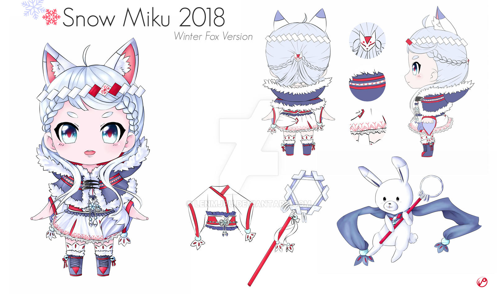 Character Design Competition 2018 : Entering snow miku design contest by lenmjpu on