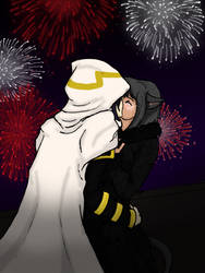 BnHA: kiss a new year by yammyqueen