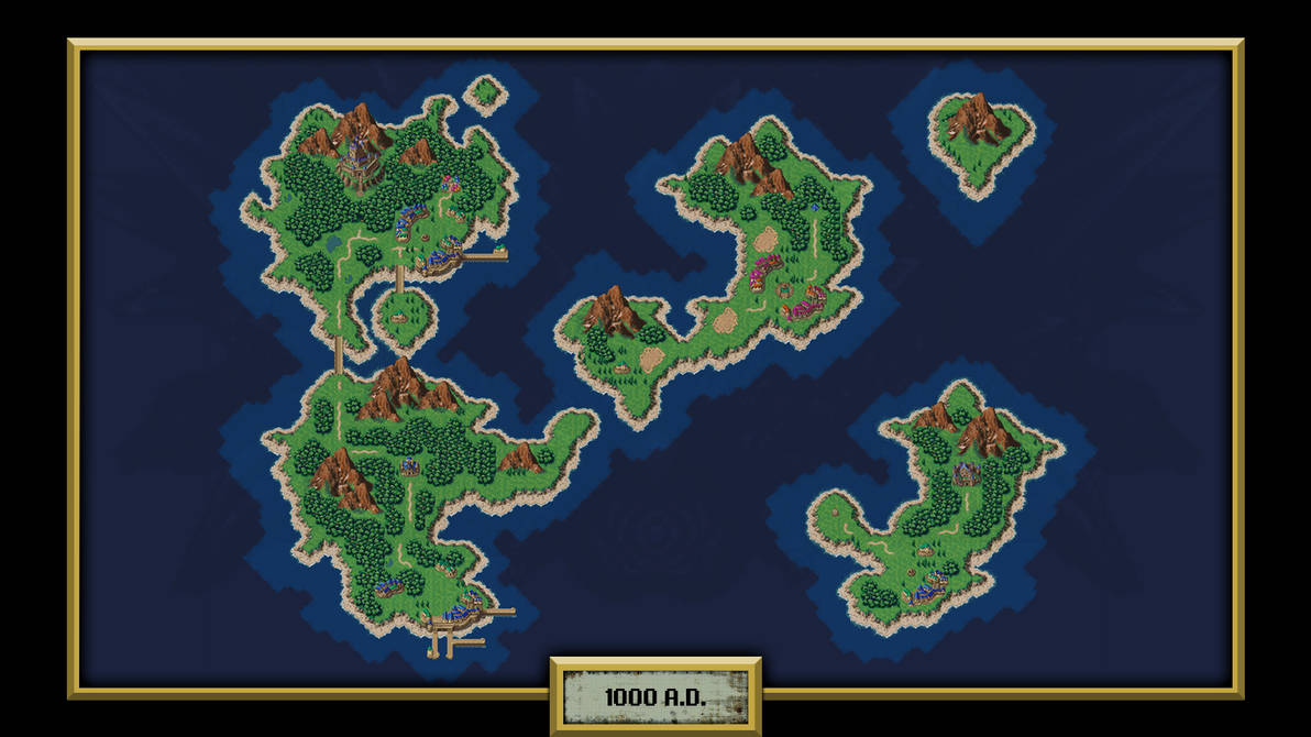 Chrono Trigger 1000 A D World Map By Thelivingtree On Deviantart