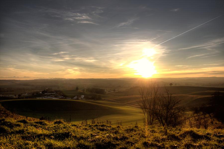Winter Sunset by maaanuel