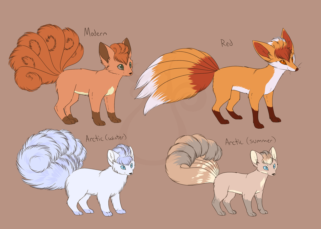 Vulpix Variants by LinksEyebrows on DeviantArt