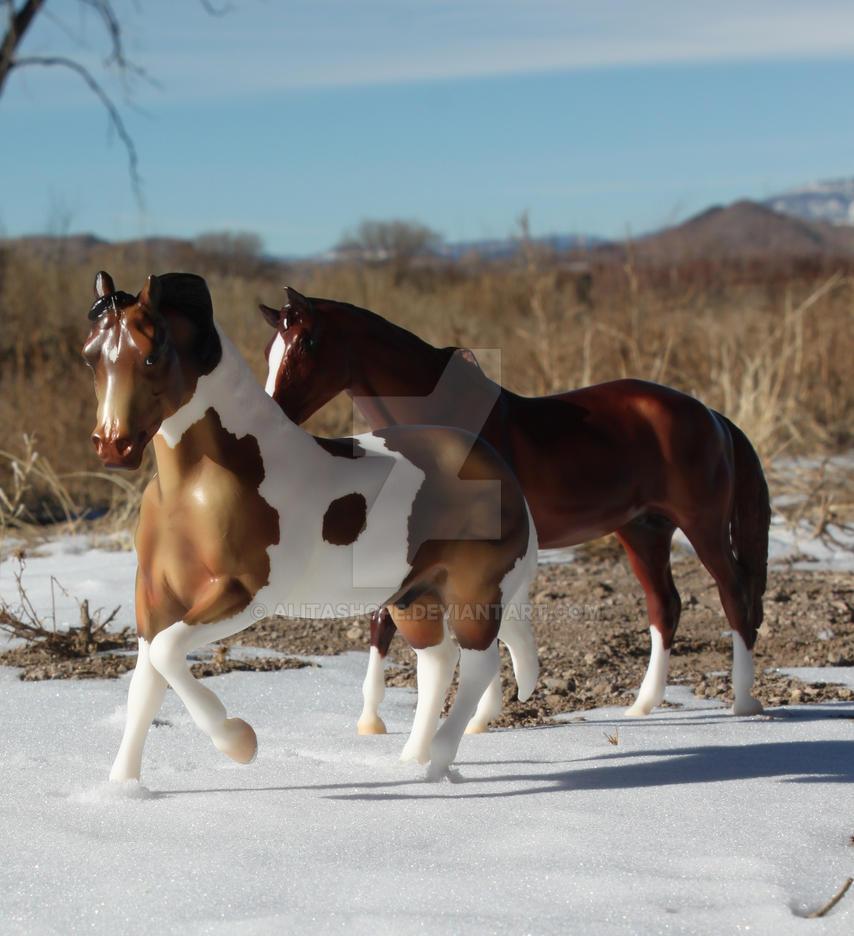 Horses in Snow by Alitashope