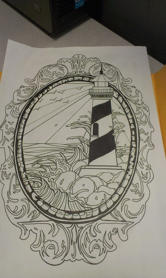 lighthouse tattoo design by swagnerart on deviantart. Black Bedroom Furniture Sets. Home Design Ideas