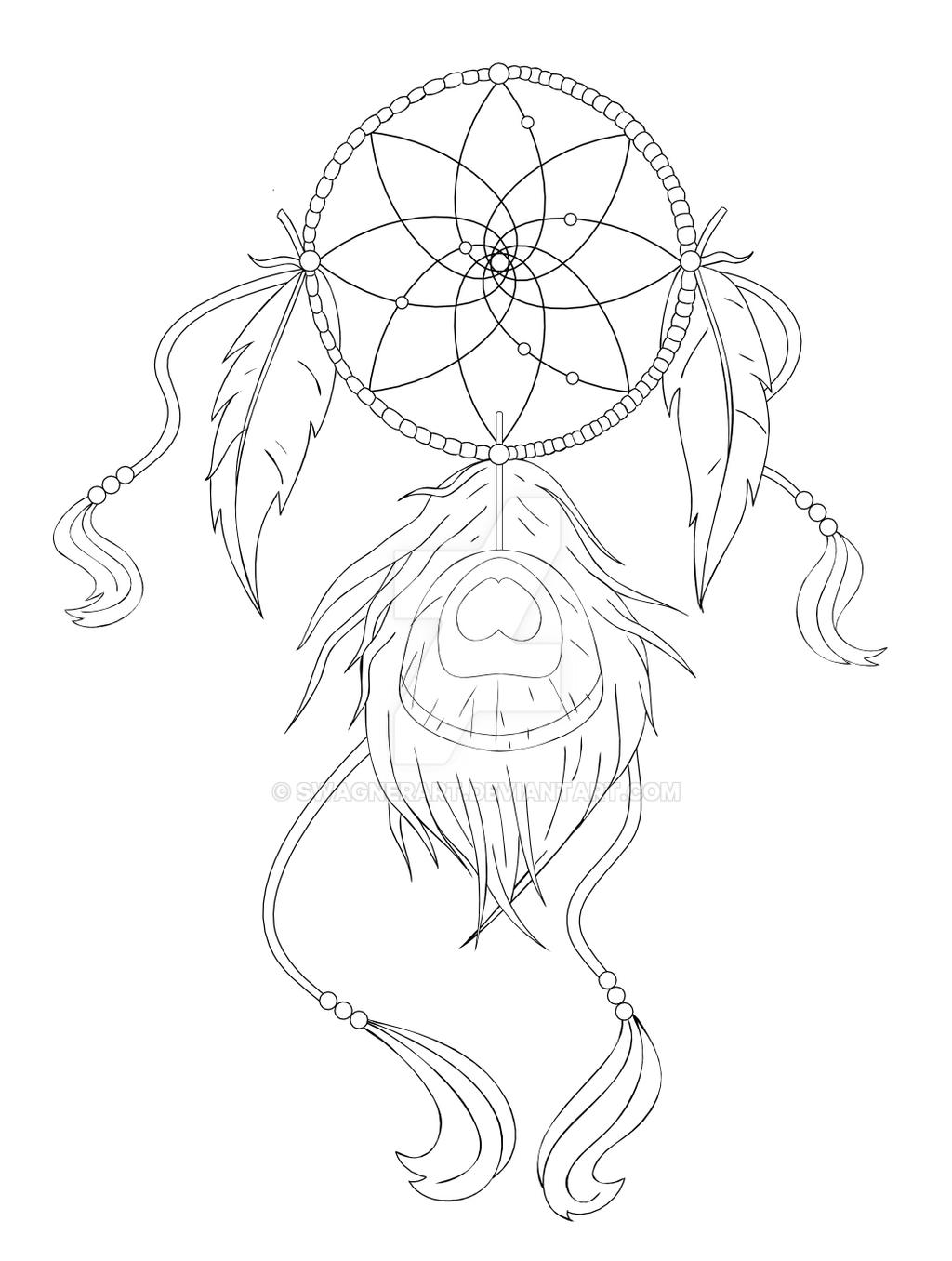 Dream catcher tattoos drawings sketch coloring page for Dreamcatcher tattoo template