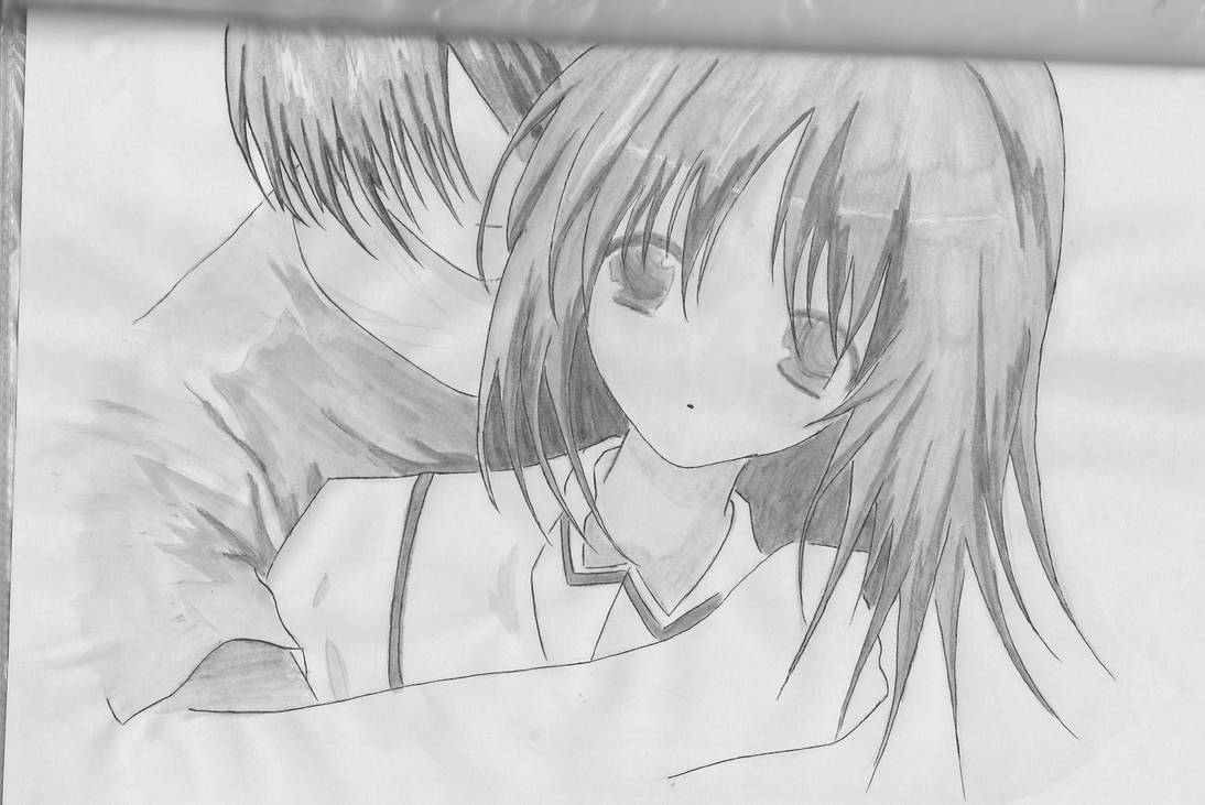 Anime sketch 8 boy and girl3 by red fish blue