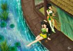 Daqiao+Xiaoqiao(Sisters in 3Kindom desktop game)