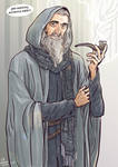 Christopher Lee as Gandalf