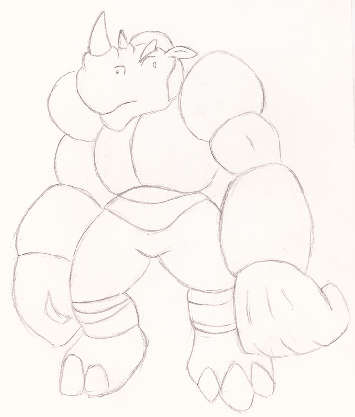Armored Rhino by Superrobofan