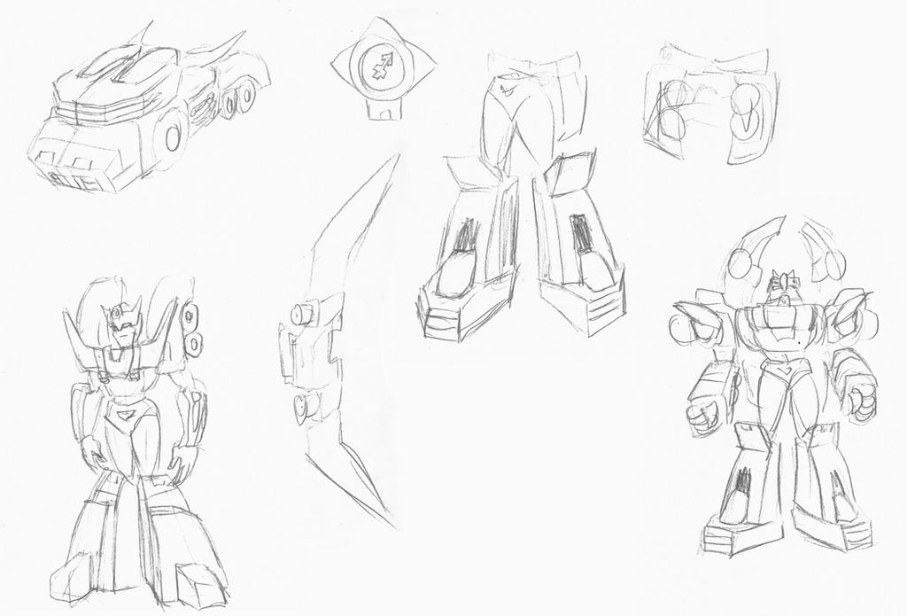 Zodiac Rodimus Sketches by Superrobofan