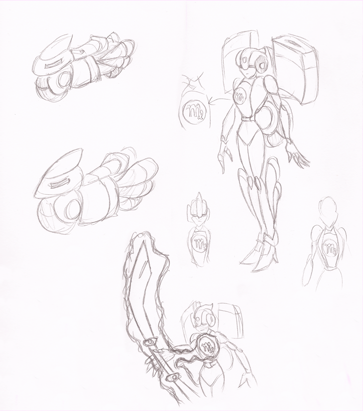Zodiac Arcee Sketch by Superrobofan