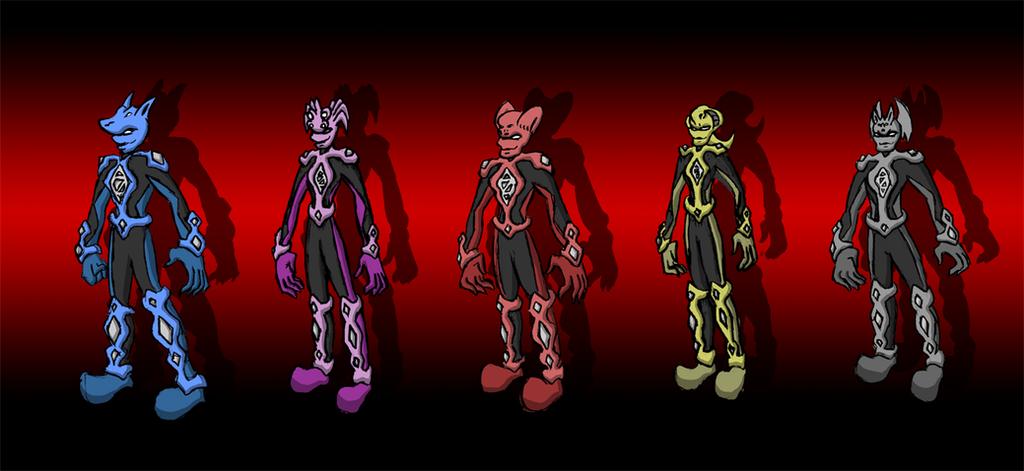Dark Rangers by Superrobofan