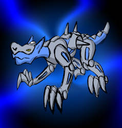 Dark Hyena Zord by Superrobofan