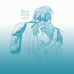 Arya Stark and The Hound by Xirmatul