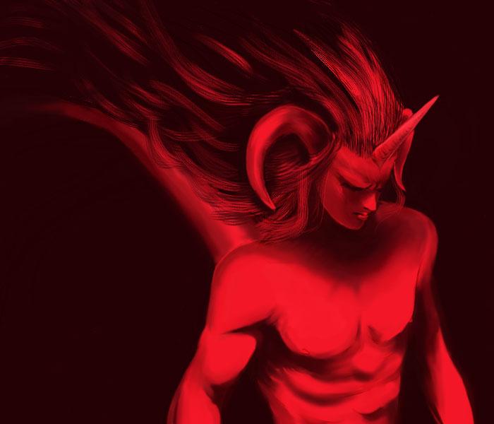 King of horned demons by darkestshadowwolf on deviantart for Domon pictures