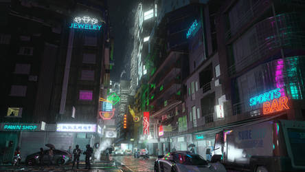 After Hours - Neon Showers by PTPazza