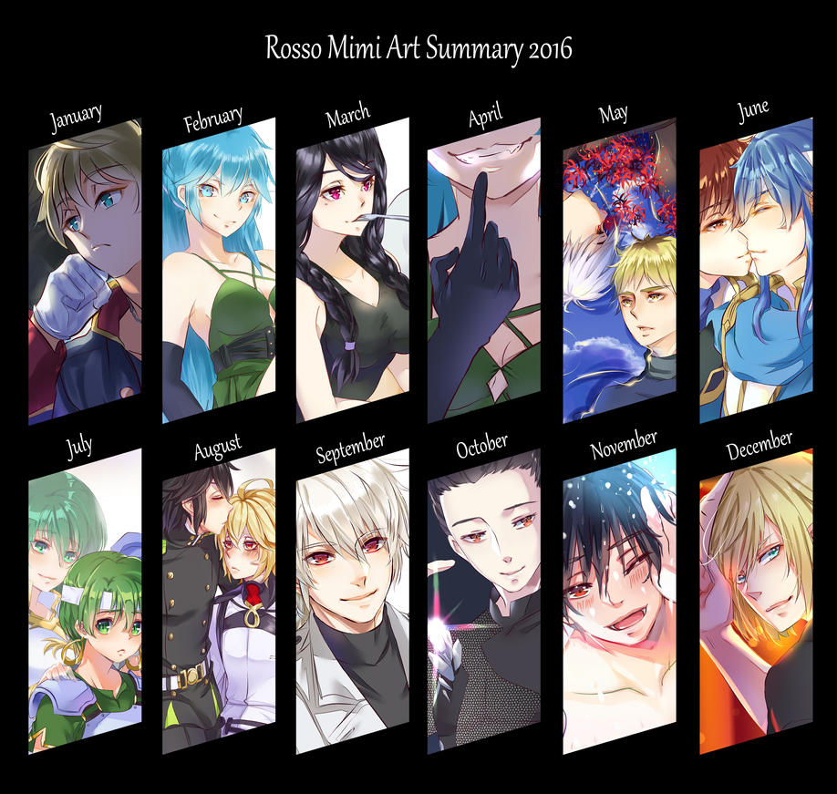 Art Summary 2016 by rossomimi