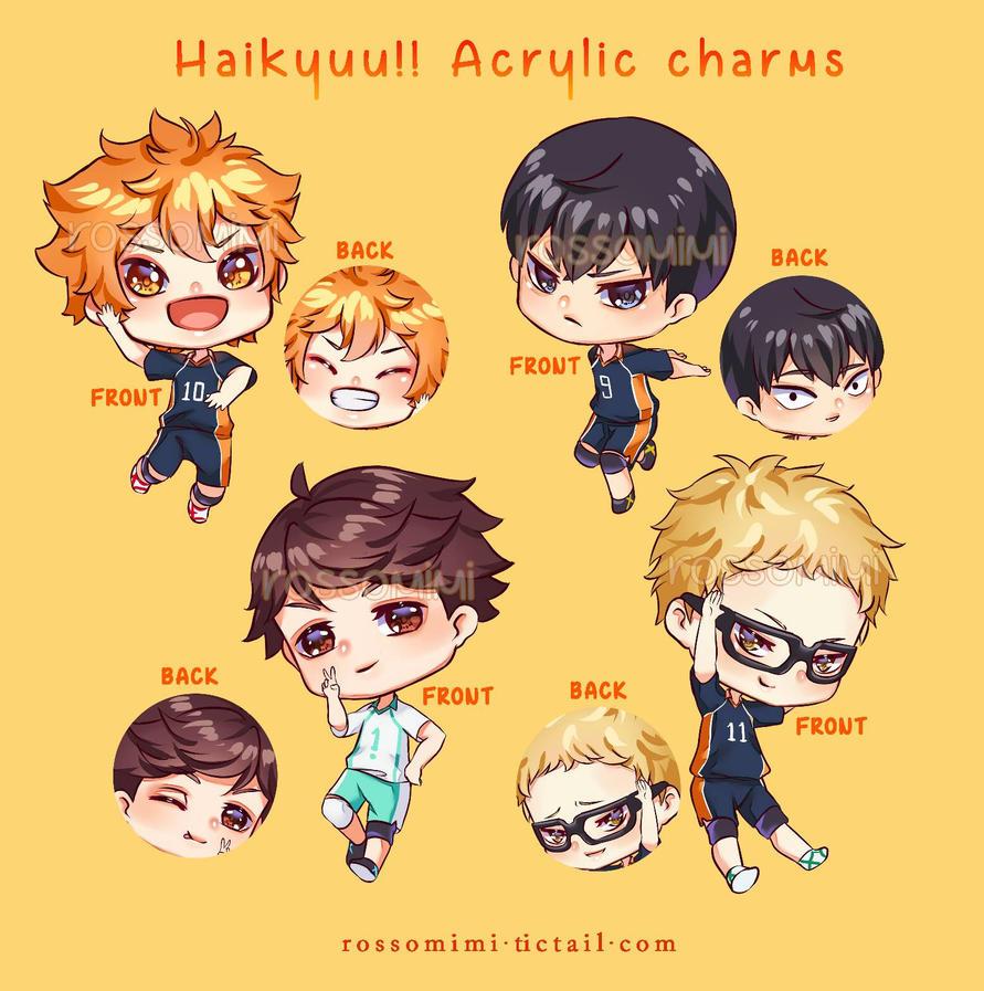 Haikyuu!! Acrylic charms by rossomimi