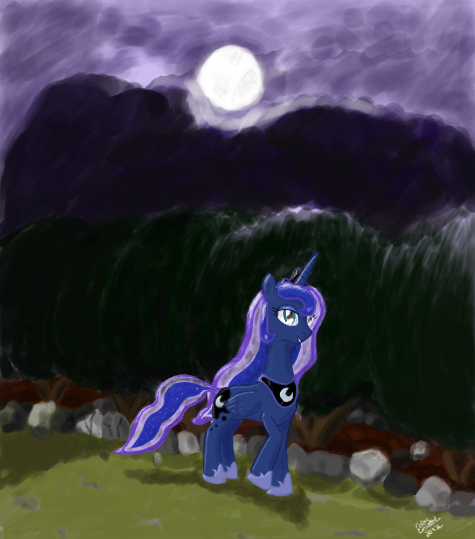 Luna's Night by ColorCoatedArt