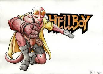 Hellboy by MarrilMcBlazen