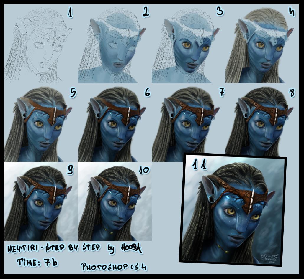 Neytiri - tutorial by MonicaHooda