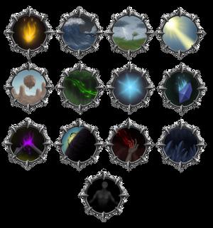 Magic school emblems