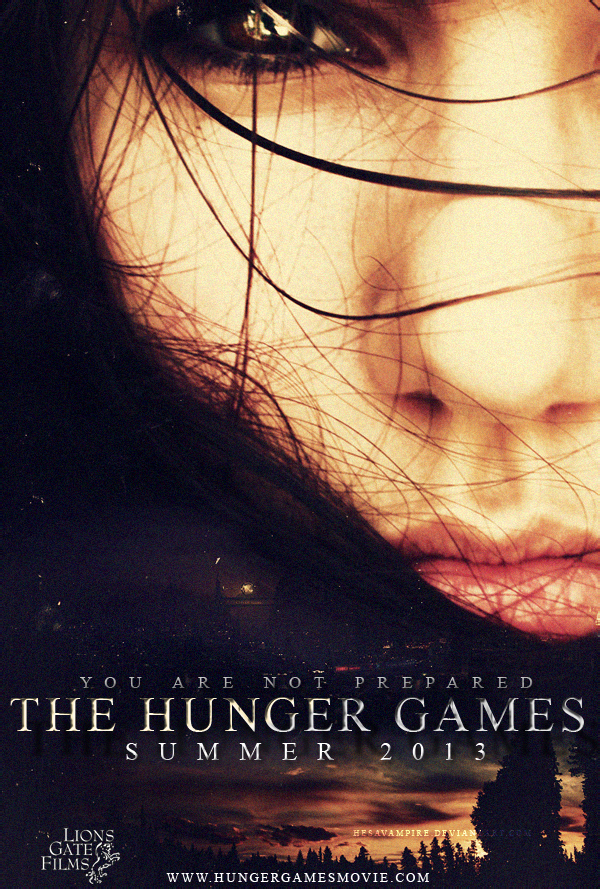 The hunger games movie poster by Hesavampire