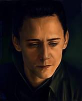 Sad Loki by AnnikeAndrews
