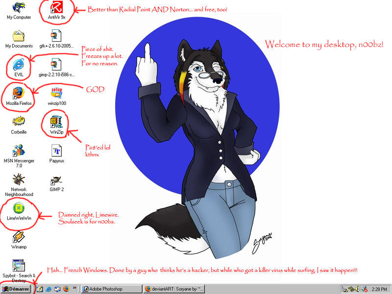 Lappy Desktop by Wolfbird