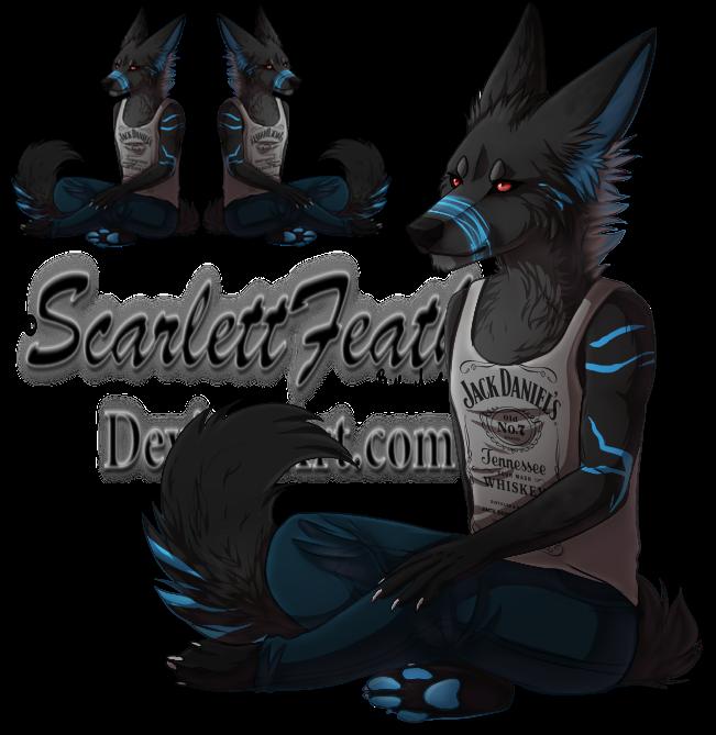 .Chat Pose Commission. xXSilentCrowxX by ScarlettFeather