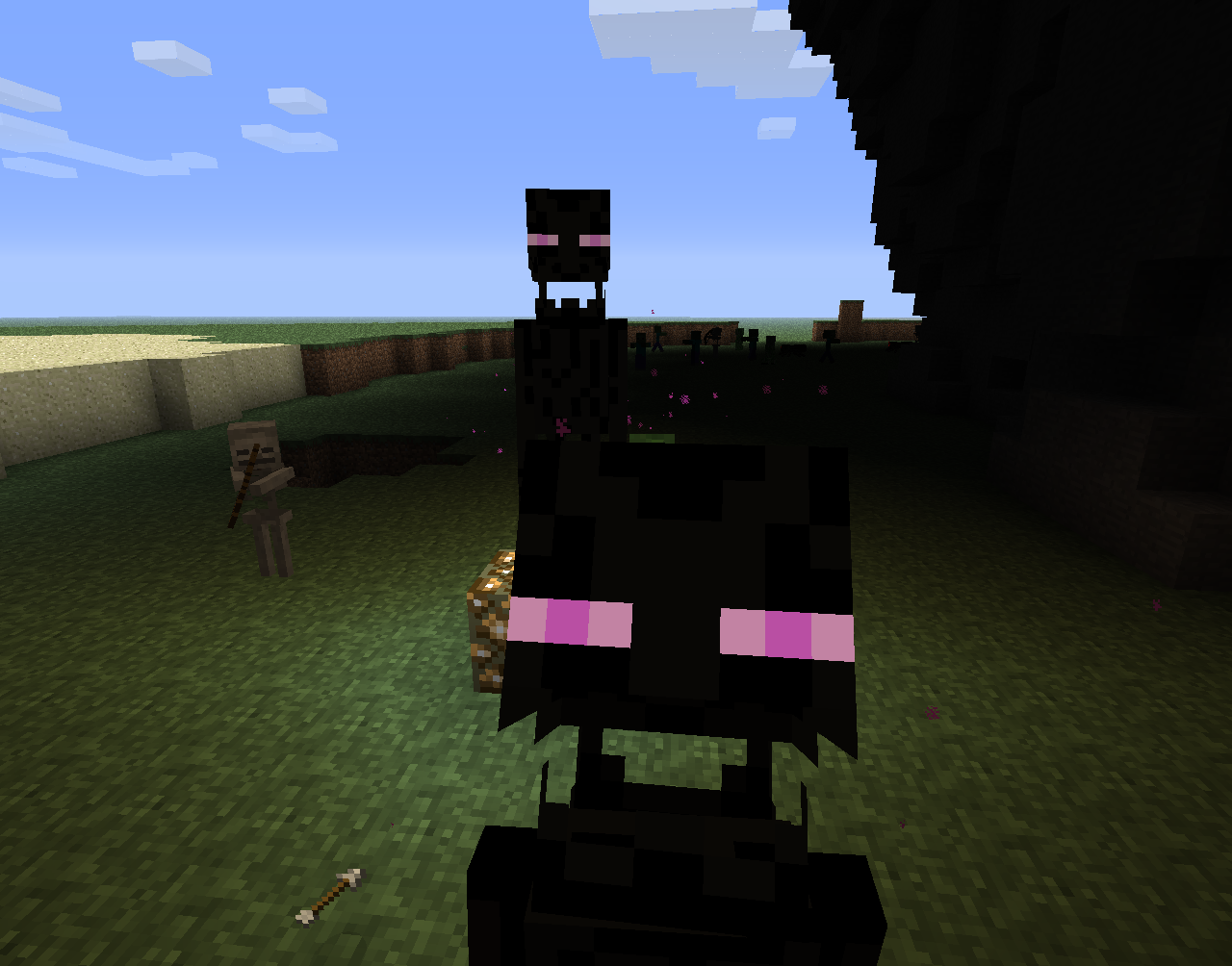 An Enderman opening his mouth by natinusala